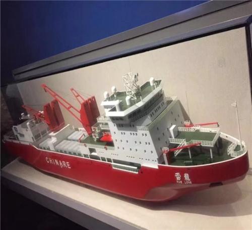 新型工程机械船体模型
