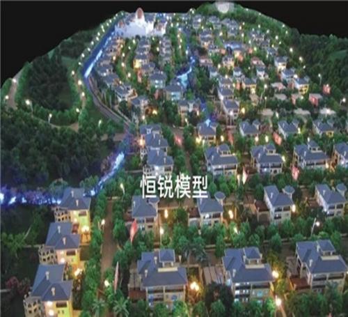 龙景弯别墅模型